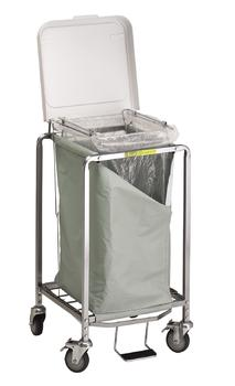 Single Easy Access Laundry Hamper w/ Foot Pedal - 672