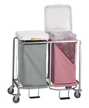 Double Easy Access Laundry Hamper w/ Foot Pedal - 674