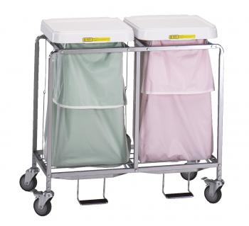 Double Leakproof Laundry Hamper w/ Foot Pedal - 684