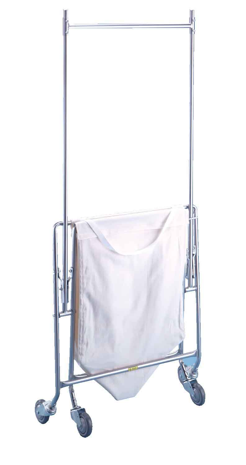 Collapsible Hamper w/ Canvas Bag and Double Pole Rack  - 652C53C