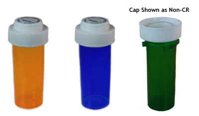 Prescription Palm-N-Turn Child Resistant Vials and Caps