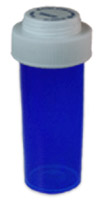 Blue Reversible Vials with Dual Purpose Caps