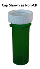 Green Reversible Vials with Dual Purpose Caps