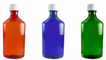 Oval Bottles with Child-Resistant Caps